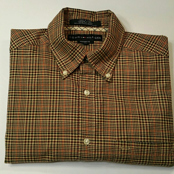 209bd9dc {Tommy Hilfiger} MENS Vintage Fit Plaid Shirt. M_5a4ae0958df4704b820696f9